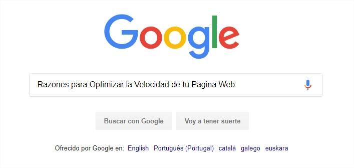buscando en Google - Google Chrome